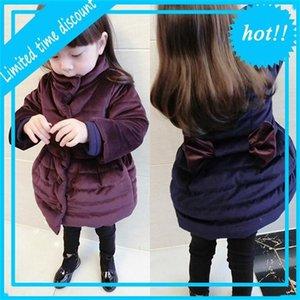 Winterjas Bow Kids Warm Winter Jackets Children Girls Parka Jassen Baby Girl Christmas Upwardrobe For 2-4 7Yr Clothing