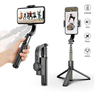 Bluetooth المحمولة gimbal المثبت الهاتف المحمول selfie عصا حامل قابل للتعديل سيلفي حامل الجرف يده مع ثلاثة محاور