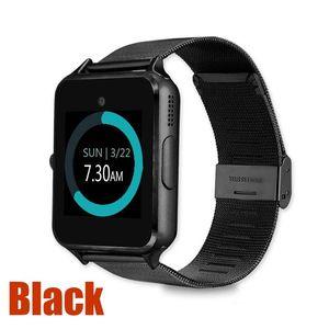Z60 Bluetooth Smart İzle Telefon Paslanmaz Çelik Bileklik Destek SIM TF Kart Kamera Spor Tracker GT08 GT09 DZ09 V8 Smartwatch