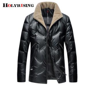 Holyrising Men Down Jackets Warm Hombre Streetwear Windproof Outwear Thicken Coat For Men Zipper Thermal Jacket 18940-5 M-4XL 201022