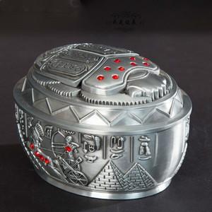 Egypte Accueil Accessoires Accessoires Salon Ornements Ornements Pétle Cendrier Petite boîte en métal Elimelim T200703