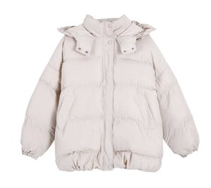 Casual all-match girlfriends loose hooded thick cotton jacket women winter women's cotton jacket short