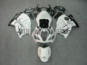Обтекатели Kit белый черный кузовного для SUZUKI GSXR1300 GSXR1300 96-07 GSXR 1997 1998 1300 1999 2000 2001 2002 2003 2004 2005 2006 2007