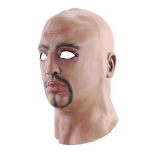 Cosplay criativa Masquerade Lifelike Máscara Supplies Costumes Funny Party Man T200116 Dia das Bruxas Props Realistic Cosplay Creati Ekjc cabeça descoberta