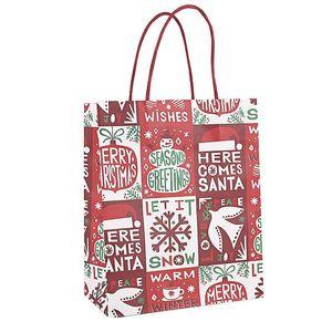Cadeau de Noël Kraft Paper Sac Creative Bronzing Mignon Dessin animé Emballage De Noël Sac fourre-tout Gratuit DHL HWWE4210