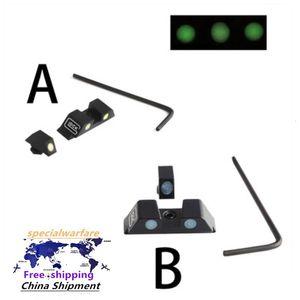 sight Tactical aluminum alloy fluorescent sight tactical front and r