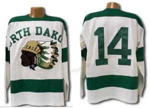 Rétro 1954 pas cher sur mesure North Dakota Sioux Hockey Jersey Cousu hommes Blancs Taille 2XS-5XL Nom ou numéro Jersey Top Qualité