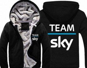 Sky Team Pro Ciclo gruesa lana para hombre Outwear yardas grandes de algodón con capucha chaqueta de la capa Parkas Warm Zfqe #