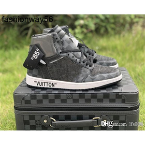 OFF noir brwon 1 2019Shipping 1s chaussures de basket mens trois espadrilles mode limité est chaussure de sport de luxe avec valise formateurs