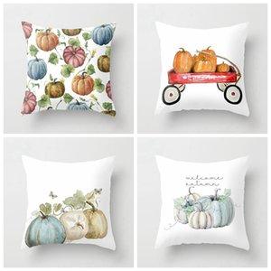 Halloween Pumpkin Series Decorazione federa stampata colorata casa cuscino da poliestere divano poliestere decor copertura cuscino HWD4322