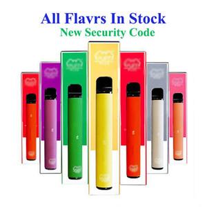 bar Puff de haute qualité, plus dispositif de vape à usage unique avec le nouveau code de sécurité 550mAh batterie Capacité 800 bouffées 3,2 ml