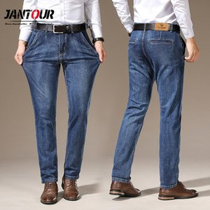 Jantour Ropa Hombre 2020 Men Jeans High Quality Smart Casual Denim Jeans Fashion Blue Straight Pants Man Thicken Trousers 28-38