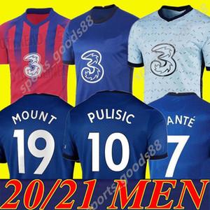 جديد تايلاند 20 21 إبراهيم فيرنر Havertz Chilwell Ziyech Soccer Jerseys 2020 2021 قميص كرة القدم السابق كانتي جبل الرجال مجموعات قمم