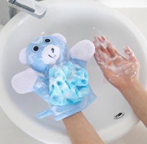 Baby Washcloths Children Shower Bathing Bath Towel 5Colors Animals Style Shower Wash Cloth Towels Cute Bath Gloves Children Bath Ball WMQ297