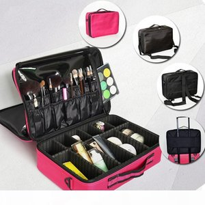Women Professional Makeup Organizer Bag Travel Luggage Bag Large Make Up Storage Box Suitcases Make Up Bags Cosmetic Case Hot