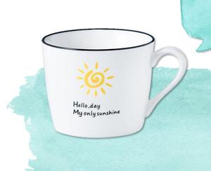 350 - 400ml Large Creative Ceramic Coffee Tea Juice Mug Pastoral Simple Fresh Style Pattern