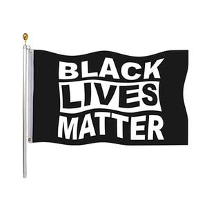 Vidas negro Bandera Materia 90 * 150cm Flag Pared indicador de la bandera del jardín Por demócratas cubierta exterior no puedo respirar Justicia Movimiento OWB1792