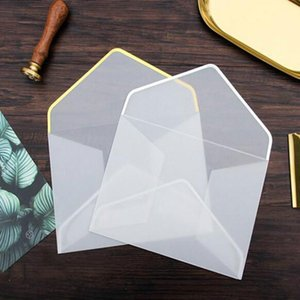10pcs lot Transparent Paper Envelope Gift In Party Wedding Korean Stationery Package SAccessory 19102901