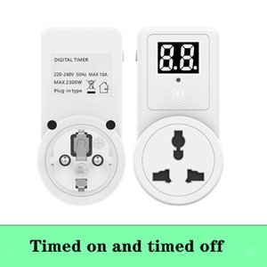 10A Digital Countdown Timer Switch Universal Socket Plug-In Time Control Phone Battery Electric Car Charge Electric EU PlugNice