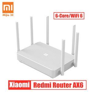 Новый Xiaomi Redmi Mar Router AX6 WiFi 6 Qualcomm 6-Core 2.4G / 5G 512 МБ Беспроводной маршрутизатор Сетевой Wi-Fi Repeater 6 Высокие усиливающие антенны