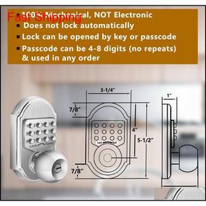 Keyless Mechanical Digital Code Keypad Password Entry Door Loc qylUMA bdenet
