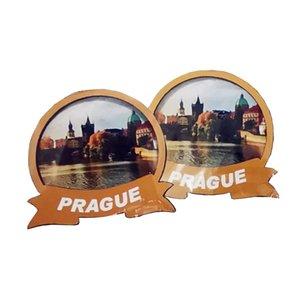 Czech Republic Tourist Travel Souvenirs,souvenir MDF layers Wooden Magnets,Decoration Fridge magnets with your City country Name