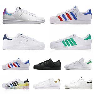 smith superstar men women flat casual sneakers superstars stan triple black white green pink designer zebra mens trainers outdoor shoes