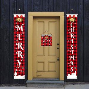 Welcome Christmas Door Porch hangs Home Store door curtain hangs Home Festive Christmas Decorations droop ship