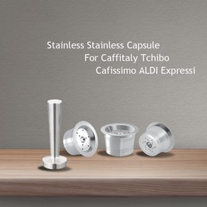 Stainless Steel Refillable Reusable Cafissimo Coffee Capsule Cafeteira Filter for Caffitaly & Tchibo Classic Machine Q0107