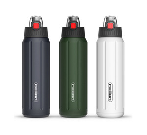 Feijian Термос Shaker бутылки Портативный бутылки воды Спорт двустенных Нержавеющая сталь Термос массажер Тритан Крышка BPA Free