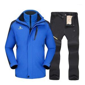 Vestes de ski costume de ski pour hommes épaissir l'étanchéité chaude étanche étanche sports de plein air veste de neige pantalons équipement de snowboard Snowboard SetS1