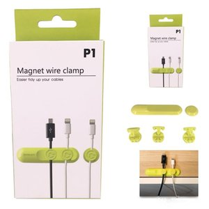 New Multifunction Earphone Headphone Cord Winder USB Cable Holder Magnetic Organizer Gather Clips Magnet Wire Clamp with Retail Package