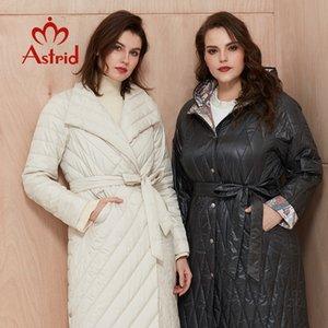 Astrid New Llegada Chaqueta suelta Ropa suelta Talla grande Abrigos largos con cinturón Abrigo de primavera Mujeres AM-9428 201103