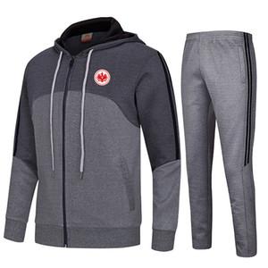 20-21 Eintracht Frankfurt Fußball-Verein Kinder athletische Männer Fußballjacke Sportbekleidung Sporttraining Outdoor Bekleidung Warm Up Suits