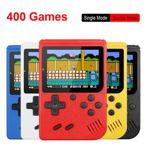 ريترو المحمولة المصغرة المحمولة لعبة فيديو وحدة التحكم 8 بت 3.0 بوصة LCD اللون اللون أطفال لعبة لاعب المدمج في 400 الألعاب