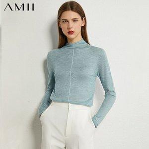 VIPMinimalism Mode Automne Femmes AMII solide SlMVP mince