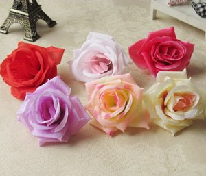 Wholesale New Silk flower head big rose flowers artificial flowers ball head brooch wedding decoration flower ju0545