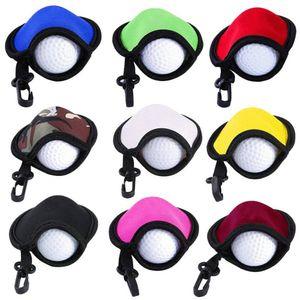 DHL STOCK Neoprene Golf Balls Holder Golf Tees Golf Ball Pouch Sport Carry Case Waterproof Pocket with Clip Bag Pendants Keychain H12206