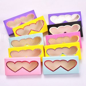 Cartoon 3D Mink Eyelash Package Boxes False Eyelashes Packaging Empty Eyelash Box Case Creative Heart Shaped Lashes Box Packaging RRA4086