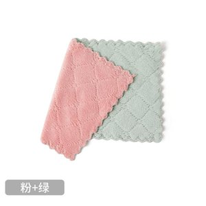 Rag Cleaning Cloth for Washing Dishs Non-stick oil rag absorbs water Kitchen Gadgets Double Side Absorbent Dishcloth Kitchen Tools
