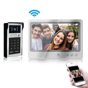 9 بوصة وشاشات الكريستال السائل السلكية WIFI الفيديو باب الهاتف APP التحكم عن بعد WIFI الجرس ثقب الباب عارض
