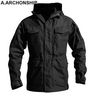 M65 UK US Army Clothes Windbreaker Military Field Jackets Mens Winter Autumn Waterproof Flight Pilot Coat Hoodie Three colors 201019