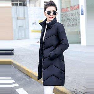Autumn Winter Female Jacket 2019 Fashion Women Parka Winter Jacket women Stand Collar Down Cotton Coat Female slim Coat1