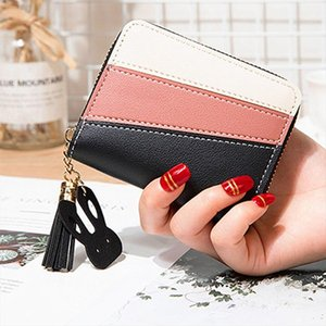Multifunction Womens Short Love Wallet Outdoor Fashion Trend Solid Color Flower Fringed Leather Wallet Tassel Leather Purses 15