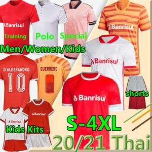 4GG XL SC Internacional Soccer Jerseys 20 21 Camisetas Guerrero T.galhardo d'Alessandro Men Femmes Enfants Masculino Feminino Infantil Football