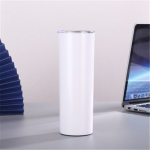 DIY Blank 20oz Sublimation Skinny Tumbler Double Wall Stainless Steel Vacuum Insulated Water Mugs For Travel NWA2545