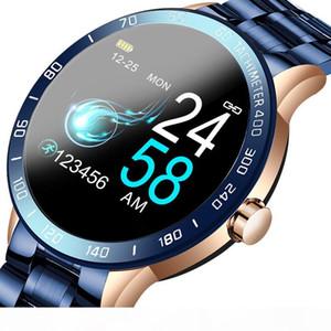 LIGE 2020 NOUVEAU SMART WATCH SMART HOMME LED Écran Crème cardiaque Surveiller la tension artérielle Salle de sport Tracker Sport Watch Smartwatch + Boîte
