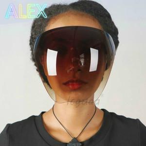 Herren-Faceshield-Schutzbrillen der Männer Goggles Sicherheit BLOCK-Gläser Anti-Spray-Maske Schutzbrillenglas-Sonnenbrillen-Maske DHL frei