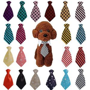 애완 동물 개 넥타이 줄무늬 스타 격자 개 칼라 스카프 가짜 목선 물 수건 고양이 나비 넥타이 애완 동물 개 XD24103 공급