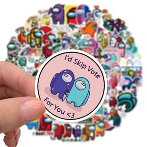 Among Us Cartoon Stickers bullet journal 100pcs Decorative Scrapbooking Album Stick Label New years Gift School Kids stationery